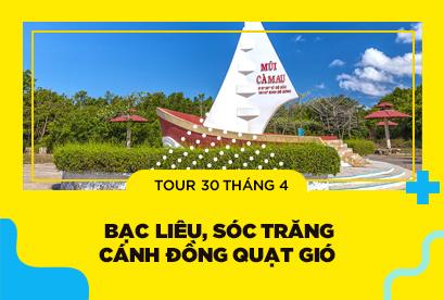 Tour Cà Mau 30/4, Bạc Liêu, Sóc Trăng, Cánh Đồng Quạt Gió