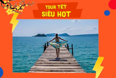 Tour Cambodia Tết Âm Lịch Du Ngoạn 3 Đảo, Biển Sihanoukville, Cao Nguyên Bokor, Phompenh
