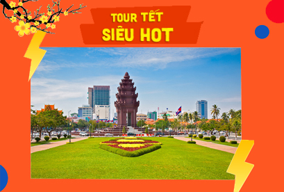 Tour Campuchia Siêm Riệp Tết Âm Lịch Angkor Wat Phnom Penh, Kì Quan Thế Giới Angkorwat, Ta Phrum