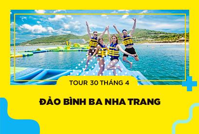 Tour Đảo Bình Ba Nha Trang 30/4, khám phá Vinpearland, Biển Dốc Lếch